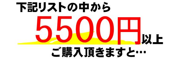 下記リストの中から5500円以上のお買い上げで